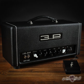 3rd Power 3rd Power Dirty Sink 25W Hand-Wired Amp Head w/ Footswitch - Black
