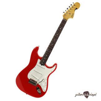 Elliott Elliott S-Series Stratocaster Guitar w/ BladeRunner Tremolo - Race Car Red