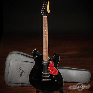 Fano Fano GF6 Omnis Series Semi-Hollow Electric Guitar w/ Gigbag – Bull Black