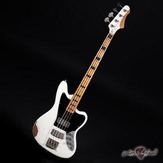 Fano Fano JM4 Alt de Facto Bass Maple Fretboard w/ Blocks and Binding - Olympic White