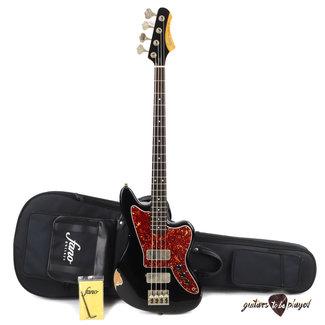 Fano Fano JM4 Standard Bass RW Fingerboard w/ Gigbag - Bull Black (Medium Distress)
