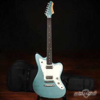 Fano Fano JM6 Oltre LollarTron Electric Guitar w/ Gigbag – Firemist Silver