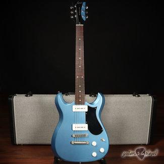 Fano Fano ML6 Alt de Facto Fralin P-90 Guitar w/ Case – Ice Blue Metallic (6lb 6oz)