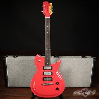 Fano Fano RB6 Alt de Facto 3x Lollar Firebird Electric Guitar w/ Case – Fiesta Red
