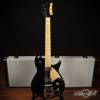 Fano Fano RB6 Alt de Facto TV Jones PowerTrons & Bigsby Guitar w/ Case – Bull Black