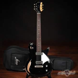 Fano Fano RB6 Oltre Lollar Mini Broiler Electric Guitar w/ Gigbag – Bull Black
