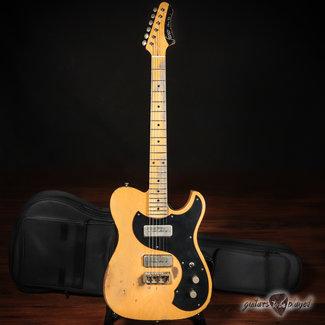"""Fano Fano TC6 Oltre P-90 """"Blackguard"""" T-Style Guitar w/ Gigbag - Butterscotch Blonde"""