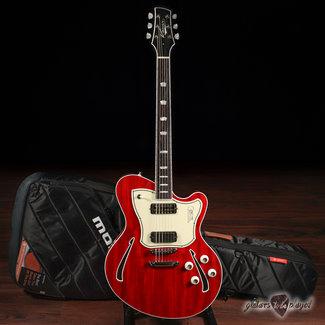 Kauer Kauer Super Chief Lollar Firebird/Gold Foil Mahogany Semi-Hollow Guitar – Cherry