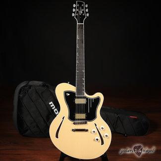 Kauer Kauer Super Chief Semi-Hollow Guitar w/ Wolfetone KauerBuckers – Butterscotch