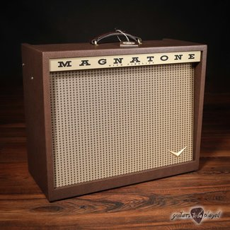 """Magnatone Magnatone Varsity Reverb 15W 1x12"""" Combo Amp w/ Footswitch & Cover"""