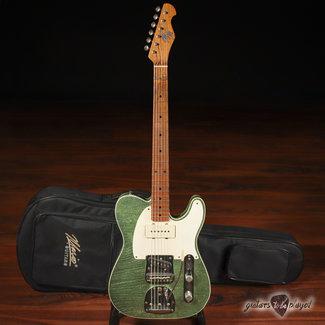 Mario Guitars Mario Martin Guitars Swamp Ash T-Jazz  w/ Fralins & StayTrem Bridge – Coke Bottle Green Flake (DEMO)