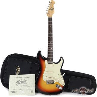Mario Guitars Mario Martin S-Style Guitar w/ Brazilian Rosewood Fingerboard – 3-Tone Sunburst