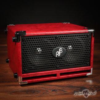 "Phil Jones Phil Jones Bass C2 Compact 2x5"" 200W 8-ohm Speaker Cabinet w/ Cover - Red"