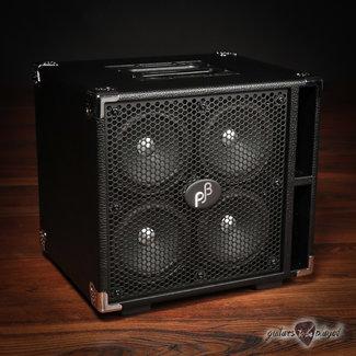 "Phil Jones Phil Jones Bass C4 Compact 4x5"" 400W 8-ohm Speaker Cabinet w/ Cover - Black"