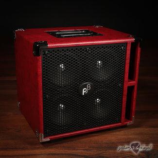 "Phil Jones Phil Jones Bass C4 Compact 4x5"" 400W 8-ohm Speaker Cabinet w/ Cover - Red"