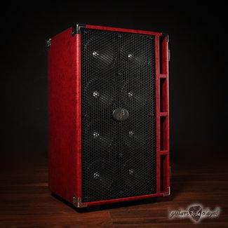 "Phil Jones Phil Jones Bass C8 Compact 8x5"" 800W 8-ohm Speaker Cabinet w/ Cover - Red"
