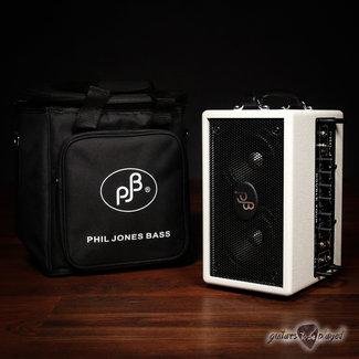 "Phil Jones Phil Jones Bass Double Four (BG-75) 2x4"" 70W Bass Combo Amp & Carry Bag – White"