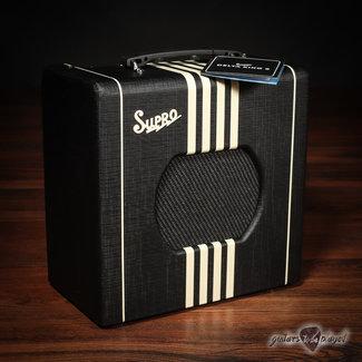 "Supro Supro 1818BC Delta King 8 1-Watt 1x8"" Tube Combo Amp w/ Line Out – Black & Cream"