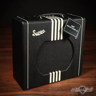 "Supro Supro 1822RBC Delta King 12 Reverb 15-Watt 1x12"" Tube Combo Amp – Black & Cream"