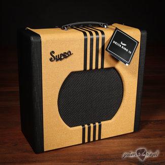 "Supro Supro 1822RTB Delta King 12 Reverb 15-Watt 1x12"" Tube Combo Amp – Tweed & Black"