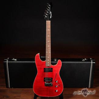 Aero3 Aero3 Guitars Model A-15 HH Electric Guitar w/ Flame Maple Top – Red Translucent