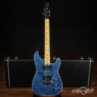 Aero3 Aero3 Guitars Model A-15 HH w/ Flame Maple & Stainless Frets – Blue Translucent