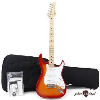 Greco Greco WS-STD Maple Fretboard MIJ Strat Electric Guitar w/ Gigbag – Cherry Burst