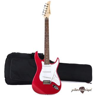 Greco Greco WS-STD Rosewood Board MIJ Strat-Style Guitar w/ Bag – Pearl Pink –5lb 15oz