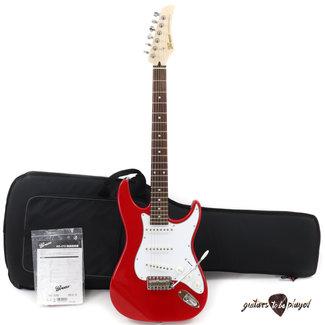 Greco Greco WS-STD Rosewood Fretboard MIJ Strat-Style Electric Guitar w/ Gigbag – Red