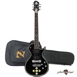 Zemaitis Zemaitis C24SU Superior Casimere Electric Guitar w/ Gigbag - Black Pearl Heart