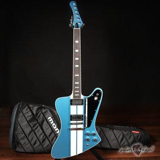 Kauer Kauer Banshee Mahogany Guitar w/ Lollar Novel90 & Imperial – Lake Placid Blue