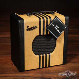 "Supro Supro 1818TB Delta King 8 1-Watt 1x8"" Tube Combo Amp w/ Line Out – Tweed & Black"