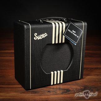 "Supro Supro 1820RBC Delta King 10 Reverb 5-Watt 1x10"" Tube Combo Amp – Black & Cream"