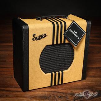 "Supro Supro 1820RTB Delta King 10 Reverb 5-Watt 1x10"" Tube Combo Amp – Tweed & Black"
