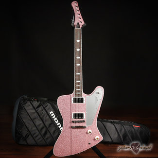 Kauer Kauer Banshee Deluxe w/ Maple Cap & Wolfetone Humbuckers – Pink Sparkle