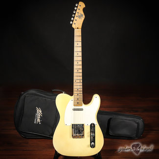 Mario Guitars Mario Martin Guitars T-Style w/ Swamp Ash Body & Budz PUs – Nicotine Blonde
