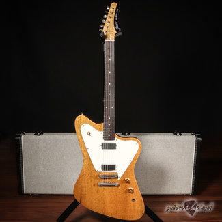 Fano Fano PX6 Alt de Facto Korina Set Neck & Lollar Firebird Guitar – Vintage Amber