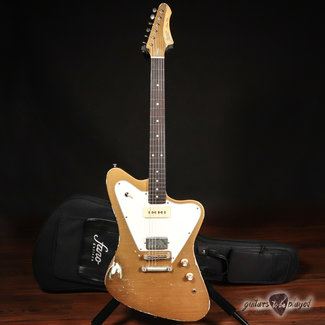 Fano Fano PX6 Oltre Lollar Staple P-90/Imperial Electric Guitar w/ Gigbag – Gold Top