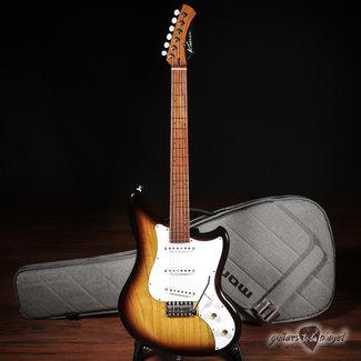 Kauer Kauer Electroliner Swamp Ash Guitar w/ Roasted Maple Neck – 2-Tone Burst