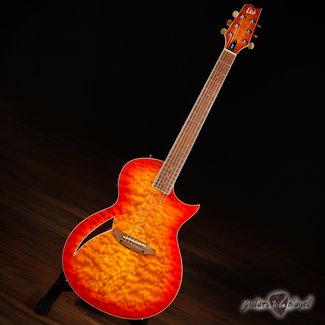 ESP LTD ESP LTD TL-6 Thinline Quilted Maple Acoustic/Electric Guitar – Tiger Eye Burst