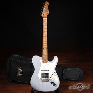 Mario Guitars Mario Martin Guitars Honcho, Swamp Ash, Roasted Flame Maple Neck – Carolina Blue