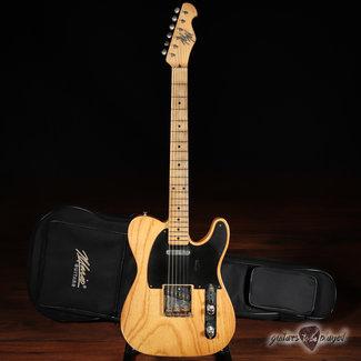 Mario Guitars Mario Martin Guitars T-Style w/ 1-pc Swamp Ash Body & Fralin PUs – Vintage Amber