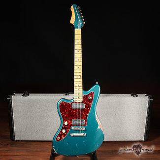 Fano Fano JM6 Alt de Facto Left-Handed Lollar P-90 Guitar w/ Case – Ocean Turquoise