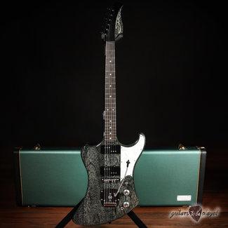 Shelton Shelton Solar-Sonic Mahogany Guitar w/ Novak JMWR Pickups – Static Blue Dog Hair