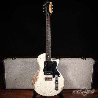 Fano Fano SP6 Alt De Facto Lollar OmniTron P-90 Mahogany Guitar w/ Case - Driftwood