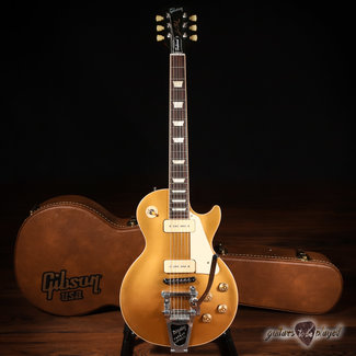 Gibson 2014 Gibson Les Paul Traditional P-90 Guitar w/ Bigsby & Case - Gold Top