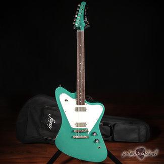 Fano Fano PX6 Oltre Lollar Firebird Electric Guitar w/ Gigbag – Sherwood Green