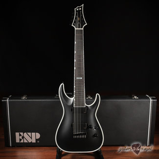ESP ESP E-II HRF NT-8 String Baritone Made-in-Japan Guitar w/ Case – Black Satin