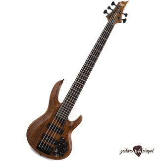 ESP LTD ESP LTD B-1005 Swamp Ash/Bocote 5-String Electric Bass – Natural Satin