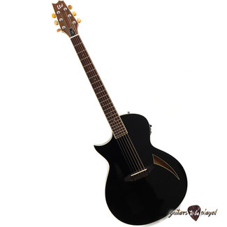 ESP LTD ESP LTD TL-6 LH Thinline Left-Handed Acoustic/Electric Guitar – Black